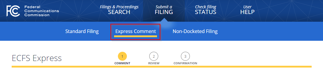 FCC Commenting Instruction 1